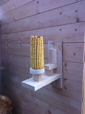 2 x Squirrel CORN Holder House Hotel Box Nest  Feeder Bird Garden NEW