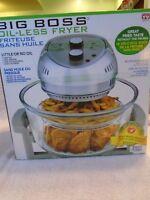 Big Boss Brand New Oil-less Fryer 16 Quart 1300 watt Silver Gray