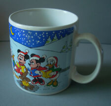 Disney Christmas Caroling Mickey Minnie Pluto Donald Daisy Ceramic Coffee Mug