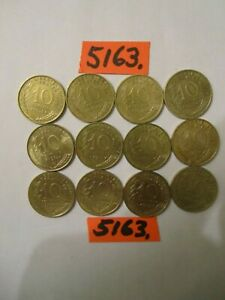 12 x  10 centimes coins  France '70's era   24    gms      Mar5162