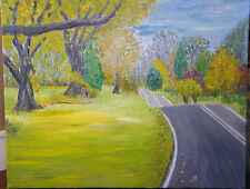 """Fine Art Oil Painting, Landscape,  """" Country Road"""", 24"""" X 30"""", on canvas"""