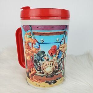 Vintage RARE Aladdin Circle K 52 oz Lizard Mechanic Off Road Refill Cooler Mug
