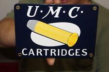 U-M-C Remington Cartridge Shotgun Rifle Gun Hunting Porcelain Metal Sign