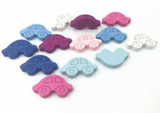 Wooden Cartoon Car shape Loose Beads Necklace Make Accessories DIY crafts 27mm