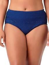 New Size 3X 22/24W Catalina Women's Navy Blue Crochet Swim Bottom only