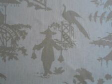 "Kravet Barbara Barry ""INDO DAY"" Fabric 8-16 yards CHINOISERIE Silhouette Toile"