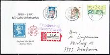 Germany BRD 1991 cover with ATM DBP stamp & others VF Nice franking !!!