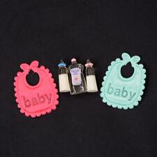 1:12 Doll House Miniature Baby Bottle Shampoo Bib Set Nursery Accessory Gift*v*