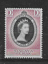 MALAYA , PERAK , CORONATION , 1953 , STAMP , PERF , MNH