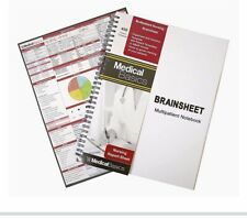 Medical Basics Brainsheet. Multipatient Notebook. Nursing Report Sheet New!