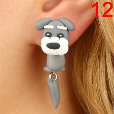 1 Pair Cute Soft Pottery Animal Stud Earrings Handmade Polymer Earrings 3c 3