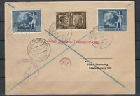 G3376/ GERMANY REICH / ITALY – MIXED FRANKING COVER – LAIBACH CANCELS