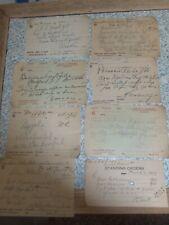 8 Filled In Dr. Prescriptions 1920'S-1930'S Chilhowie,Va. & Glade Springs Va.