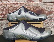 Nike Clogposite Solo Slide Foamposite Air Flightposite 2001 Purple Silver Sz 12