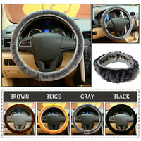 4Color Warm Plush Steering Wheel Cover Winter Furry Fluffy Soft Plush Car Wheel