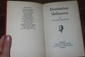 1954 DESTINATION UNKNOWN by AGATHA CHRISTIE 1ST EDITION HB COLLINS CRIME CLUB *