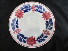 "Antique 9"" Maestricht Plate Societe Ceramique Holland Floral Plate (VG Cond.)"