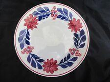 """Antique 9"""" Maestricht Plate Societe Ceramique Holland Floral Plate (VG Cond.)"""