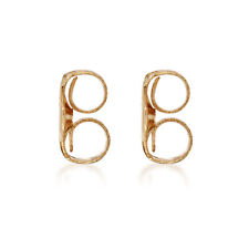 14K Rose Gold Replacement Friction Earring Backs - 2 Pair Bundle (4 total)