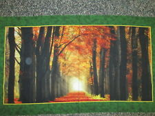 FALL TREES LANDSCAPE LEAVES AUTUM COTTON DIGITAL WALL ART FABRIC PANEL