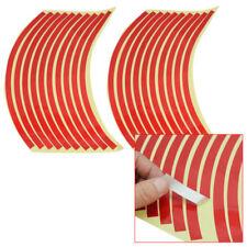 20 x Stickers Autocollant PVC Liseret Jante Pneu Roue Rouge 10mm Pr Voiture Moto