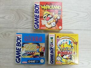 Wario Land 2, Glücksrad, Pokemon Pinball Verpackung / Spiel - Game Boy (GB)