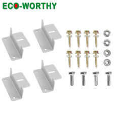 ECO-WORTHY Solar Panel Mounting Z Brackets Aluminum Alloy Material RV Roof