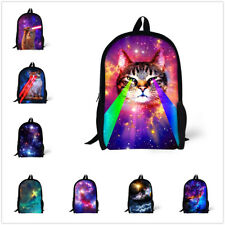 Backpack Women Girls Cat Print Rucksack School Bags Shoulder Bookbag Travel Bag