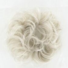 postiche chouchou chignon cheveux blanc ref: 17 en 60