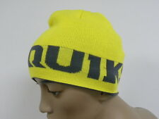 Quiksilver Feeel The Heat  Yellow & Grey  Reversible  Beanie Hat Cap