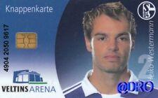 Knappenkarte + Heiko Westermann + Hülle + Restguthaben + FC Schalke 04 + Sammler