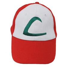 Pokemon ASH KETCHUM Trainer Costume Cosplay Baseball Hat Cap Summber Sun Kids