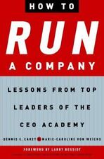 NEW - How to Run a Company: Lessons from Top Leaders of the CEO Academy