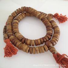 """Tibetan 108 10*4 mm Natural Yak Bone Buddhist Prayer Beads Mala Rosary-17"""""""