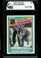 1984 O-Pee-Chee Hockey Wayne Gretzky SCORING LDRS #380 GAI 8 NM-MT