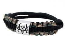 Bone Collector Paracord Survival Bracelet - Camo Camouflage Rope Jewelry