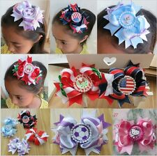 """30 BLESSING Good Girl Boutique Modern Style Dance 4.5"""" Hair Bow Clip 128 No."""