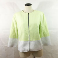 P21 Tahari Kaina Soft Citrus Jacket Blazer Sz Medium $168