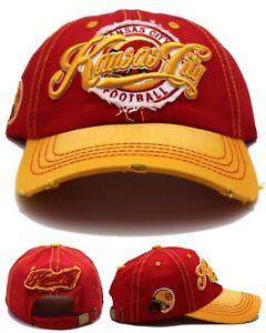Kansas City New Leader Vintage Ladies Women City Chiefs Red Gold Era Hat Cap