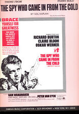 """SPY WHO CAME IN FROM THE COLD Sheet Music """"Theme From...."""" Richard Burton"""