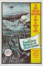 The Fabulous World of Jules Verne 1958 Sci Fi Classic Film Poster 12x8 Inch Repr