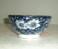 Vintage K & G Flow Blue Bowl Gold Trim Footed