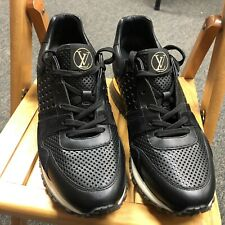 Authentic Louis Vuitton Ladies Run Away Perforated Leather Sneakers - LV 40