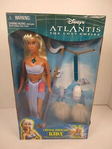 Disney's Atlantis Crystal Princess Kida doll w/light up necklace Mattel 29327