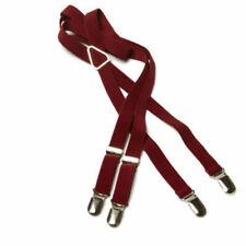 Mens Merc London Plain Braces One Size Style Drace - Blood Red