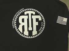 T-SHIRT NEW 'THE RIDE FACTORY' COOL DESIGN! 'ARRIVE. RAISE HELL. LEAVE.'  2XL  s