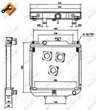 Kühler, Motorkühlung für Kühlung NRF 52110