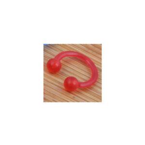 4pc Universal Acrylic 16g Horseshoe Helix Hoop Ring Ball Nose Ear lip Piercing