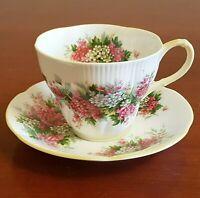 Vintage Royal Albert Blossom Time Hawthorn Tea Cup and Saucer Set Floral Flower