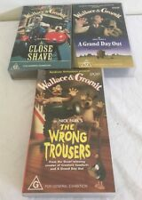 3 WALLACE AND GROMIT - BBC- VHS - RATED- G- VIDEO TAPE: A Close Shave & More